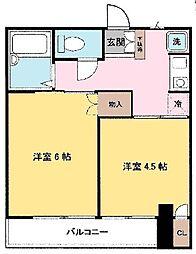 東京都江戸川区西小松川町の賃貸マンションの間取り