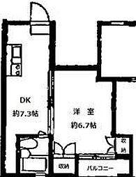 シャレー祐天寺第10[3階]の間取り