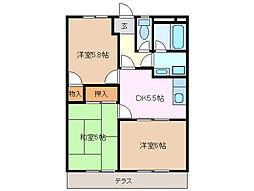 グランパスSHIROTA A棟[1階]の間取り