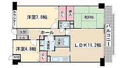 シャムロックコート西岡本[1階]の間取り
