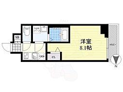 メイクス錦糸町 3階1Kの間取り