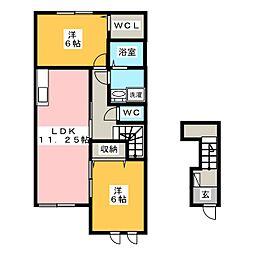 カルム22[2階]の間取り