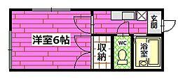 コーポ三宅[2階]の間取り