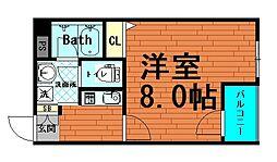 大阪府大阪市中央区鎗屋町2丁目の賃貸マンションの間取り