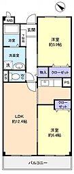 千葉県船橋市南三咲3丁目の賃貸マンションの間取り