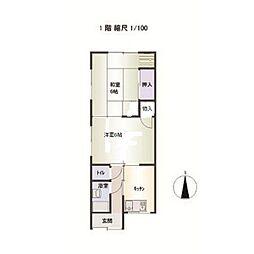 高野アパート[2階]の間取り