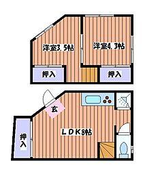 [一戸建] 東京都立川市栄町5丁目 の賃貸【/】の間取り