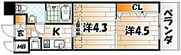 No.63 オリエントキャピタルタワー[6階]の間取り