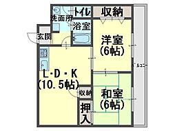 エアリーズ上野[4階]の間取り