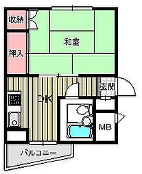 ビィラ井崎[2階]の間取り