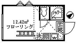 フェリスハーモニー[2階]の間取り