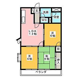 三重県鈴鹿市東旭が丘4丁目の賃貸マンションの間取り
