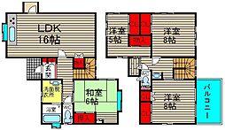 山田西1丁目戸建て 1階4LDKの間取り