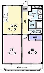 大阪府枚方市津田元町1丁目の賃貸マンションの間取り