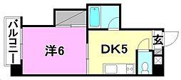 第6ゴトービル[102 号室号室]の間取り
