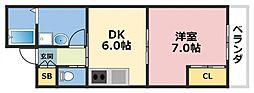 シダーコート[1階]の間取り