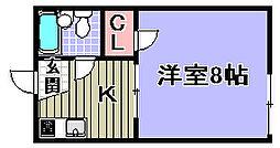 フローラル21[102号室]の間取り
