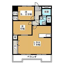 学戸スカイマンション[3階]の間取り