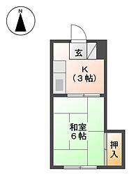 ピア弦四路[1階]の間取り