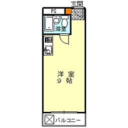 ハイムニシキ[2A号室]の間取り