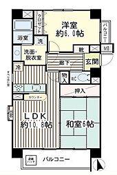 エクラン川崎(日当たり良好、角住戸)[701(キャンセル住戸)号室]の間取り