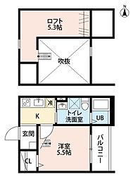 CielBleu志賀本通(シエルブルー志賀本通)[205号室]の間取り