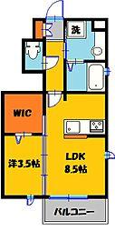 WILL DO 江曽島[101号室]の間取り