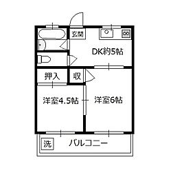 大野ビル[3階]の間取り