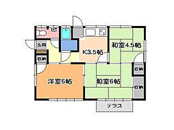 [一戸建] 栃木県宇都宮市竹林町 の賃貸【/】の間取り