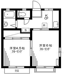 ファミールヒロ[1階]の間取り
