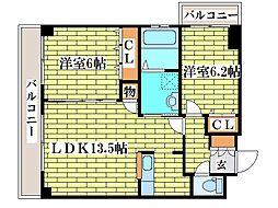 第8旭レジデンス[4階]の間取り