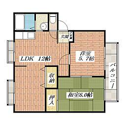 サンクレール[1階]の間取り