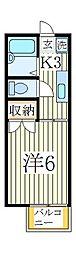 プレジール鏑木[1階]の間取り