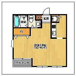 ウイングコート藤崎[2階]の間取り