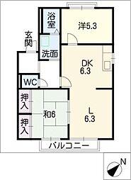 ホウプハウスA棟[2階]の間取り