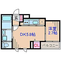 ラ・ネージュ大倉山[1階]の間取り