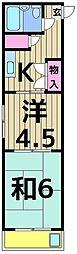 サンハイツミウラ[305号室]の間取り