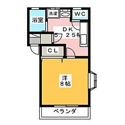 メゾン・パッサージュA[3階]の間取り
