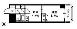 ダイアパレス高田弐番館[10階]の間取り