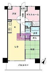 ライオンズマンション横浜ポートビュー[2階]の間取り