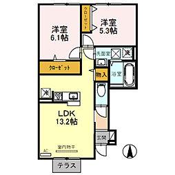 (仮称)D-room花田町[102号室]の間取り