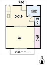 フィルハイツ[2階]の間取り
