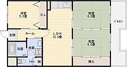 第2泰山ハイツ[4階]の間取り