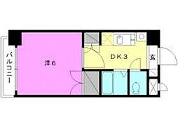 ロイヤルハイツ清水町[406 号室号室]の間取り