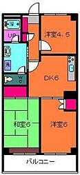 千葉県浦安市富士見の賃貸マンションの間取り