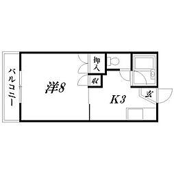 静岡県浜松市南区法枝町の賃貸アパートの間取り