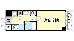 ロイヤルヒル神戸三宮2[2階]の間取り