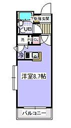 千葉県市川市新井3の賃貸マンションの間取り