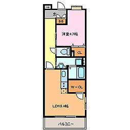 愛知県常滑市栄町7丁目の賃貸マンションの間取り