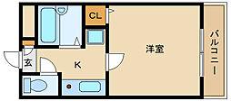 近鉄南大阪線 藤井寺駅 徒歩1分[4階]の間取り